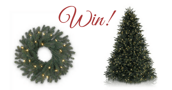 Win an Artificial Christmas Tree, Wreath and More