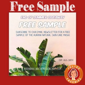 Free Sample of Aurana Natural Skin Care Mask