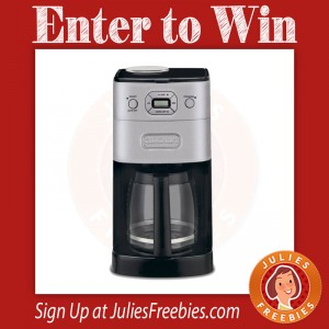 Win a Cuisinart Grind and Brew Coffee Maker