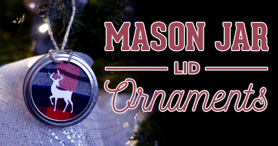DIY Mason Jar Lid Tree Ornaments