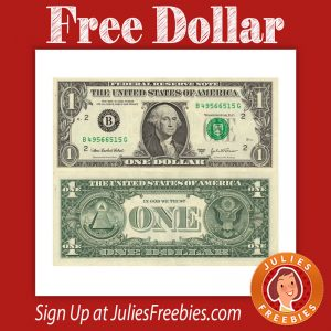 Free Dollar Bill in the Mail