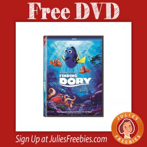 Free Finding Dory DVD for TopCashBack Members