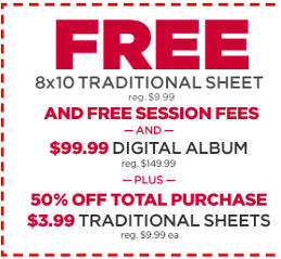 FREE 8x10 Traditional Sheet Portrait for Military at JCPenney