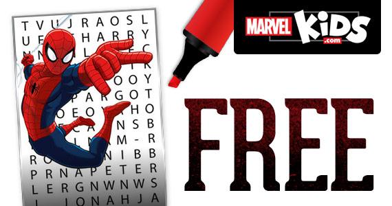 Free Spider-Man Word Search