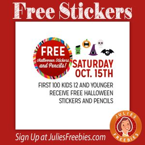 Free Halloween Stickers at Kmart