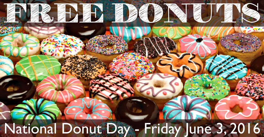 National Donut Day Freebies – Friday June 3