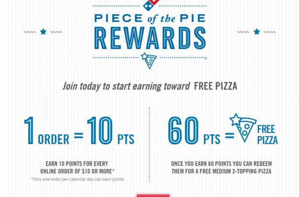 Earn Points Toward a Free Pizza with Domino's Points for Pies App