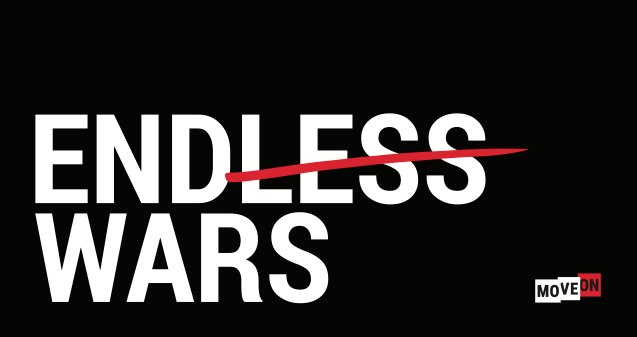 No Endless Wars Sticker is Free to Redeem on Moveon.org