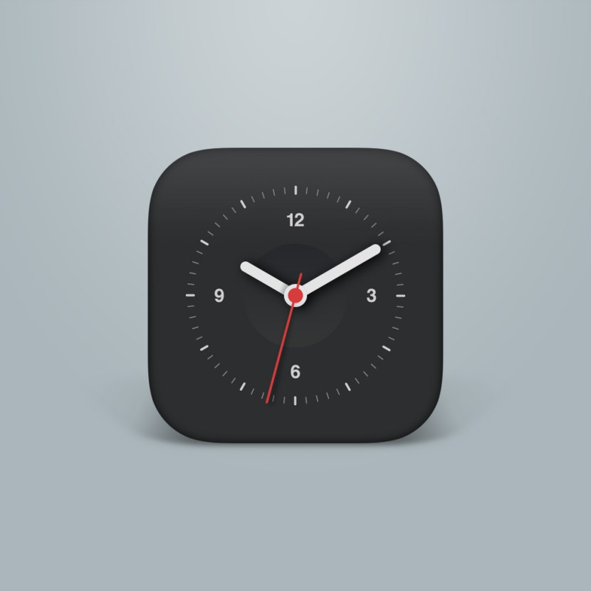 Flat Clock Icon PSD