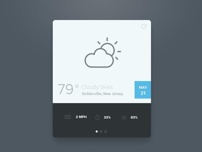 Simple Weather Widget PSD