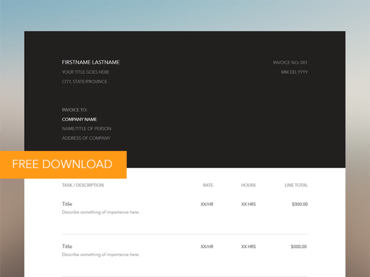 free vector invoice template - free download | freebiesjedi, Invoice examples