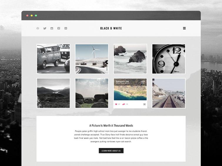 Portfolio Free PSD Web Template