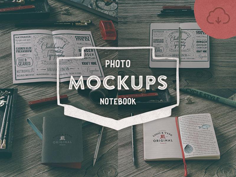 4 Hip Notebook Mockups
