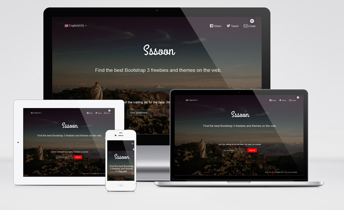 Sssoon : Free Coming Soon Bootstrap Template