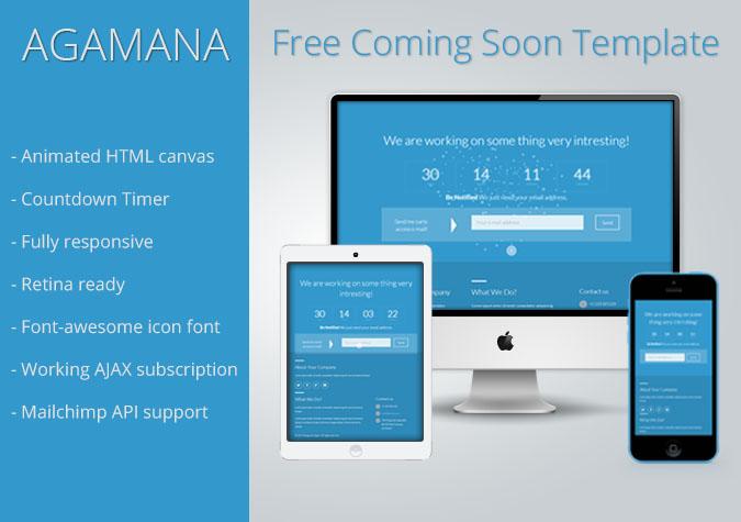 Agmana : Free Responsive Coming Soon Template