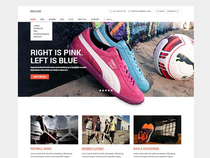 Biruang : Free PSD eCommerce Website Template