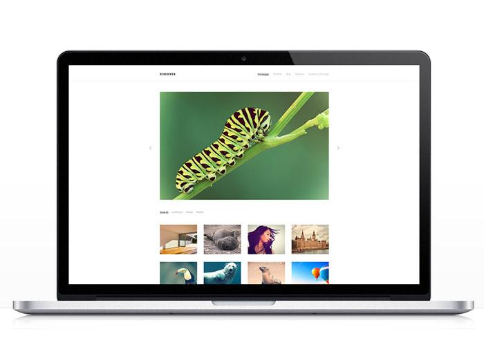 Discover : Free Responsive WordPress Theme for Photographer