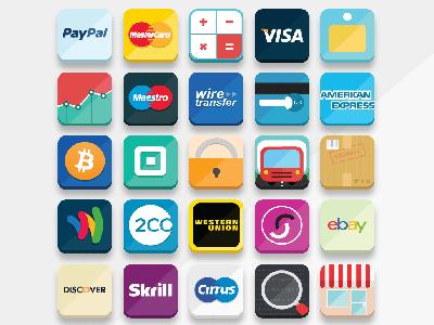 33 Free Flat Ecommerce Icons