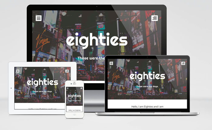 Eighties : Simple WordPress Theme with Bold Style Design