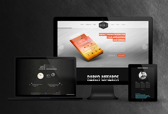 Envision 57 : Free One Page Portfolio PSD Template