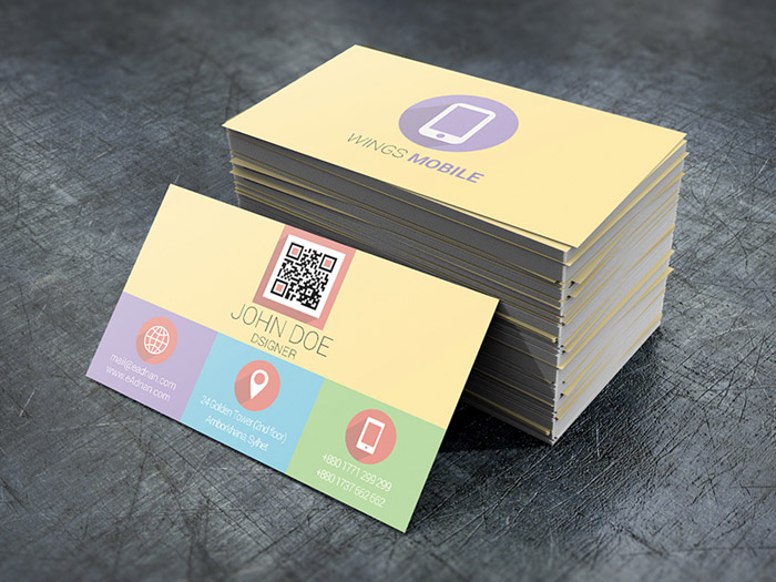 Free Flat and Colorful Business Card Template