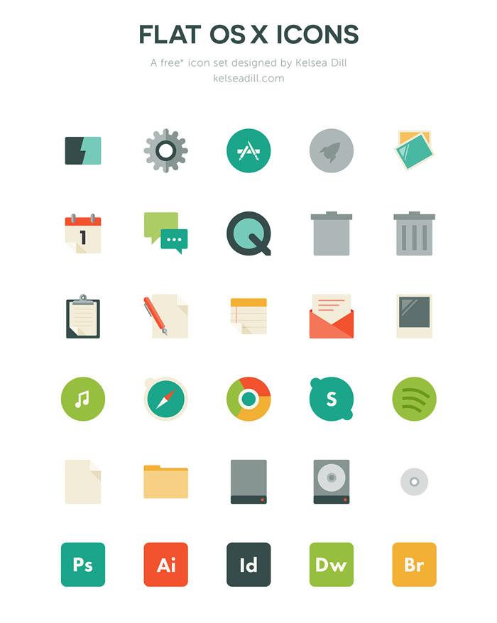 Free Flat OS X Icons