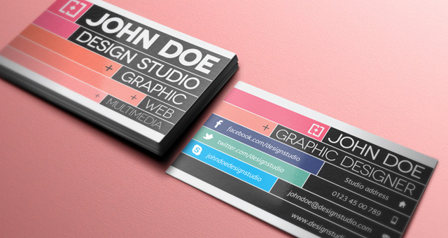 Creative Business Card Template for Graphic Designer