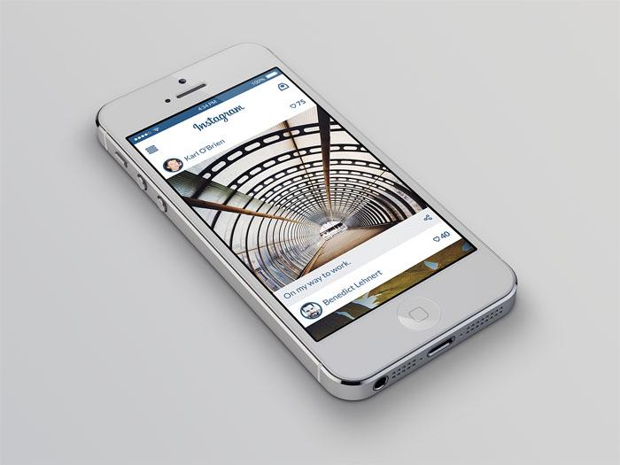 Instagram Redesign Concept PSD