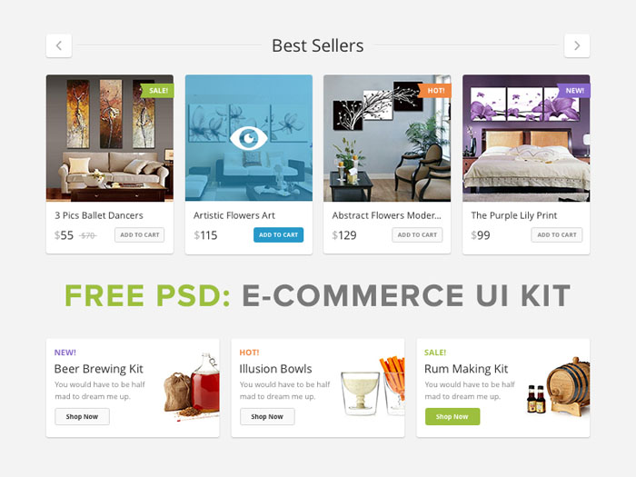 Lucky Store : Free PSD Ecommerce UI Kit