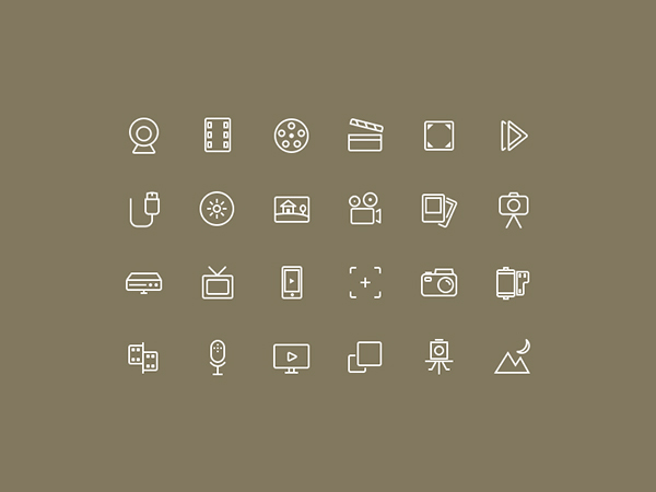 Free Multimedia Icon Set ( Photo and video)