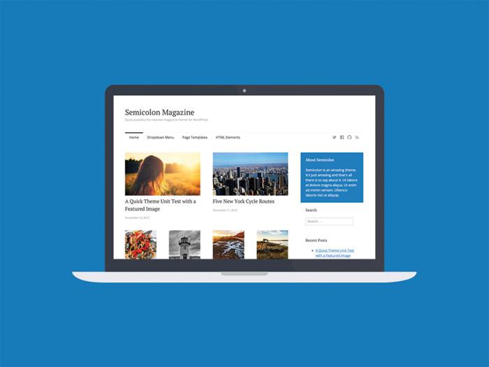 Semicolon – Simple Responsive WordPress Theme