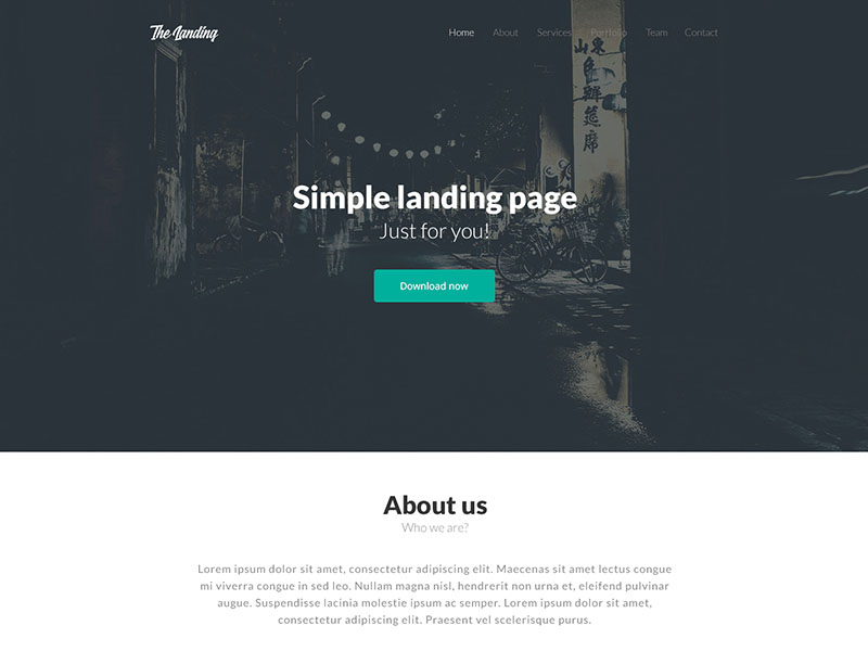 TheLanding : Simple Landing Page PSD Template