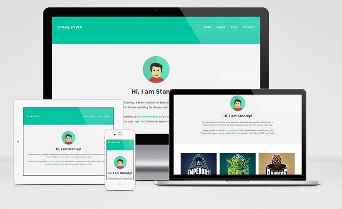 StanleyWP : Free Bootstrap WordPress Theme for Freelancer