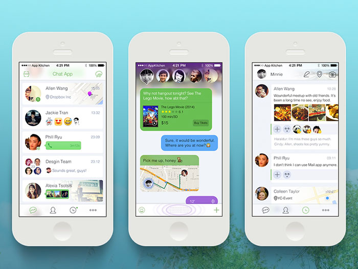 Smart Chat App PSD Template