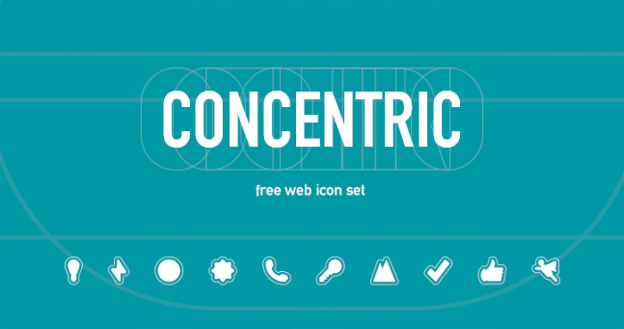 Concentric : Free Vecor Icon for Web Agency