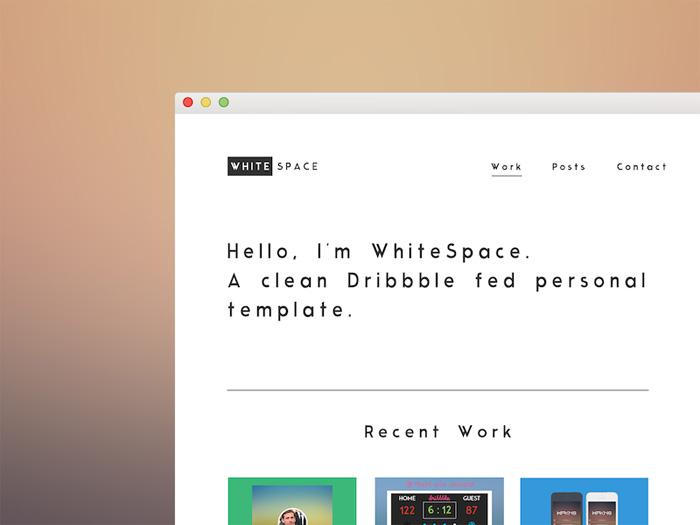 White Space : Free Portfolio PSD Template
