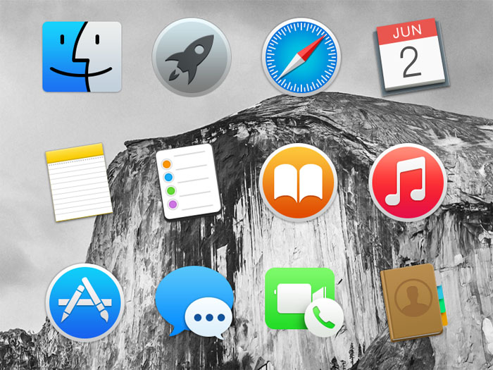 PSD Dock Icons for Mac OS X Yosemite