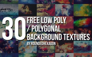 30 Free Polygonal / Low Poly Background Textures