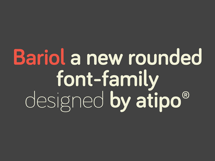 Bariol Free Rounded Font Family