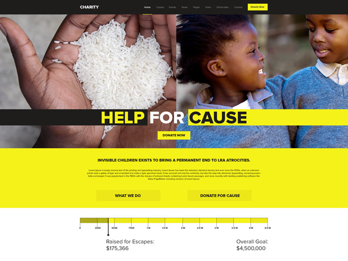 Free Charity PSD Template