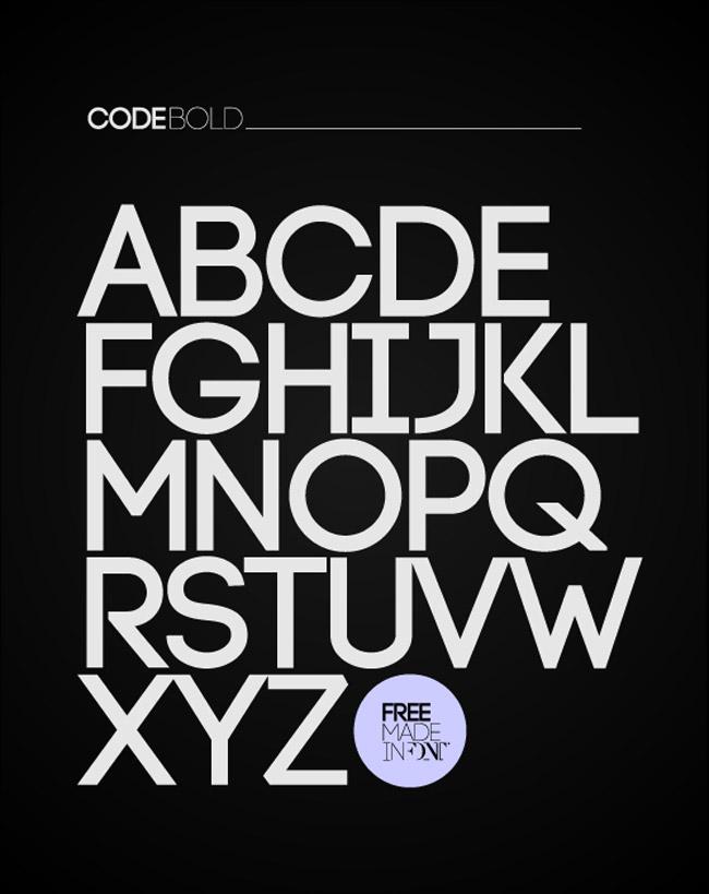 Code Free Typeface