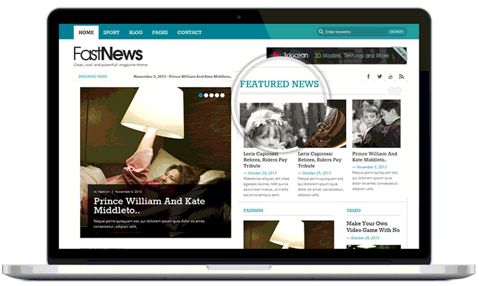 Fast News – Free Magazine WordPress theme