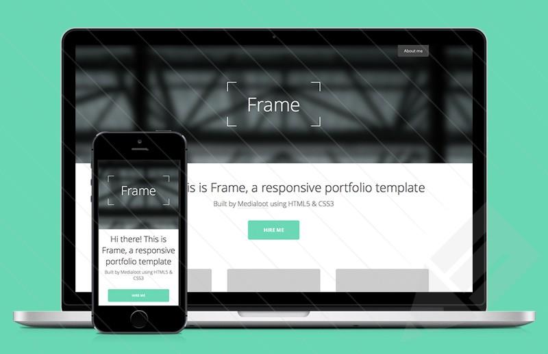 Frame – Free Simple Responsive Portfolio HTML5 Template