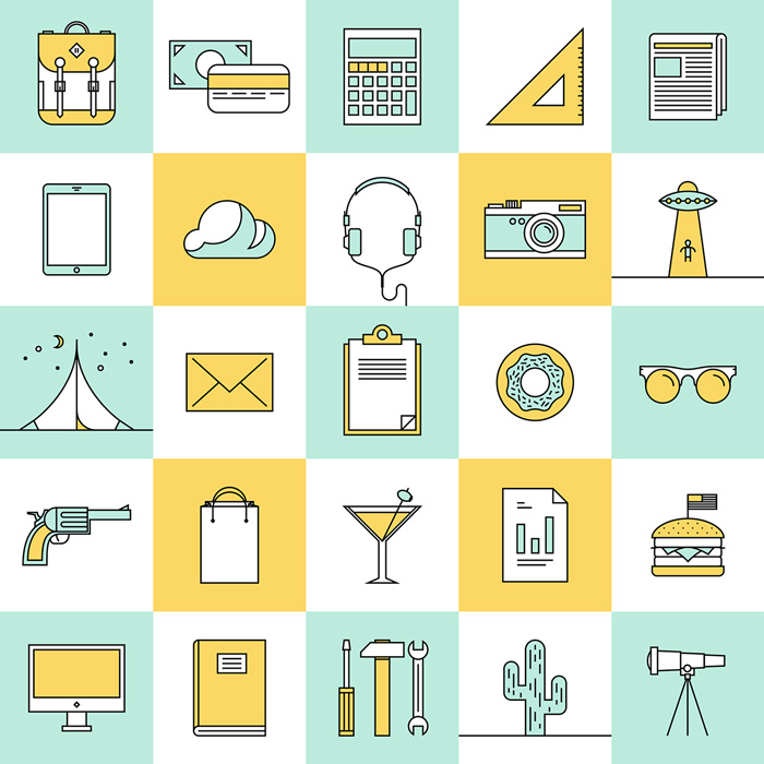 25 Free Simple and Clean Icons