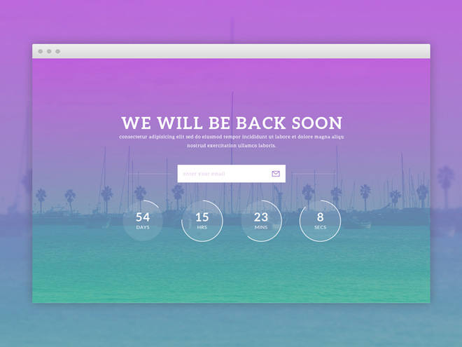 Notify – Free PSD & HTML5 Coming Soon Template