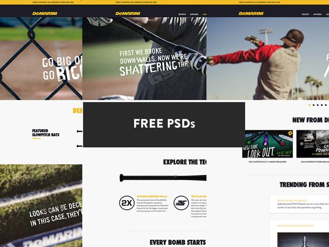 Demarini Sports Free PSD Web Template