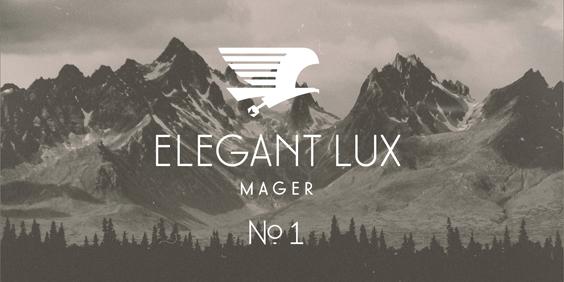 Elegant Lux Mager Font (free demo download)
