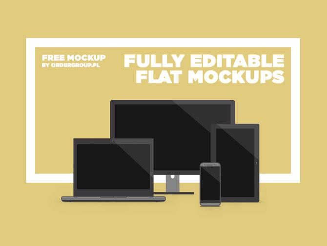 Free Flat Responsive Mockups