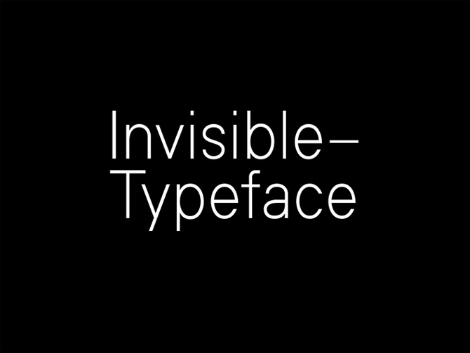 Invisible Free Font
