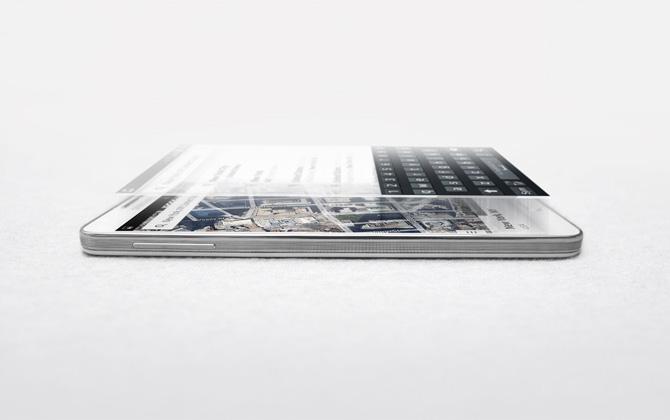 Realistic Samsung Galaxy Note 3 Mockup